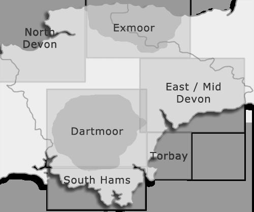 Devon regions map