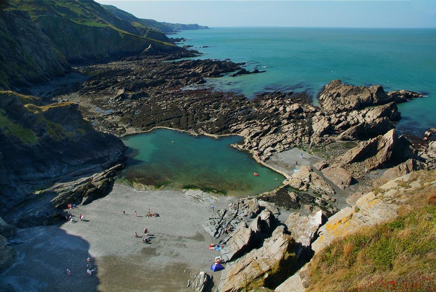 Tunnels Beach In Ilfracombe Feature A Network Of Tunnels And A Tidal Victorian Bathing Pool