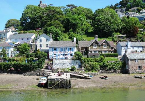 Noss Mayo viewed across the creek from Newton Ferrers