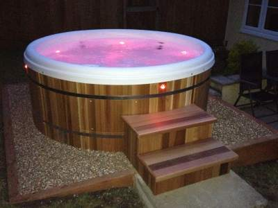 Hot Tub with mood lighting