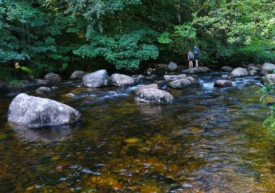 Paddling in River Dart, Dartmeet