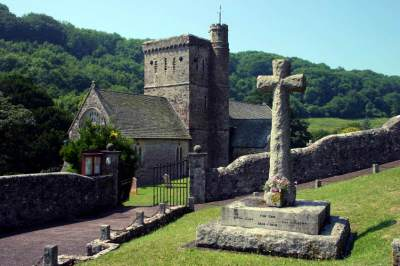 Saint Winifred church Branscombe