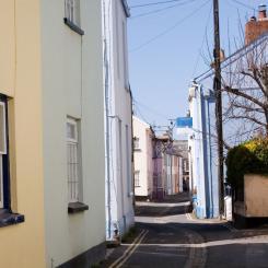 View down Irsha Street