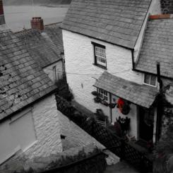 Clovelly cottages - looking down