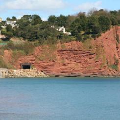 Dawlish red cliffs