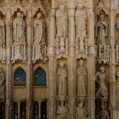 Exeter Cathedral West Front Detail