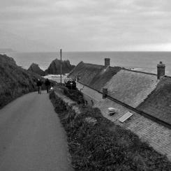 Road into Hartland Quay