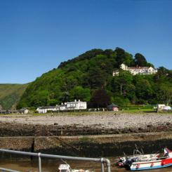 Lynmouth Harbour Panorama