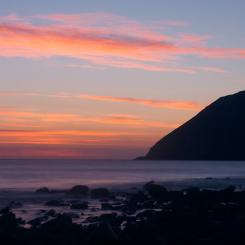 Lynmouth beach sunrise