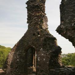 Okehampton Castle - Keep Detail