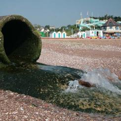 Outflow at Goodrington Sands