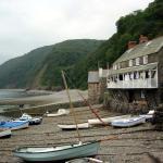 Clovelly fishing boats on beach