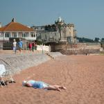 Sunbathing at Paignton