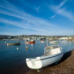 Teignmouth harbour beach