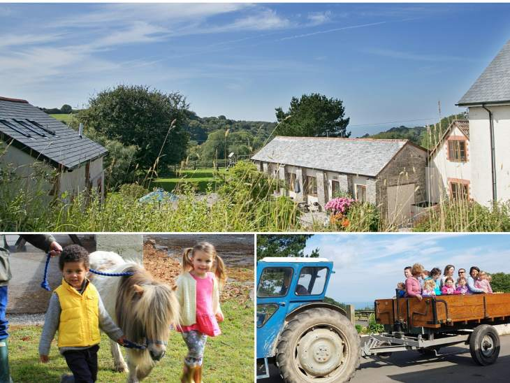 Family friendly farm holidays Lee Bay