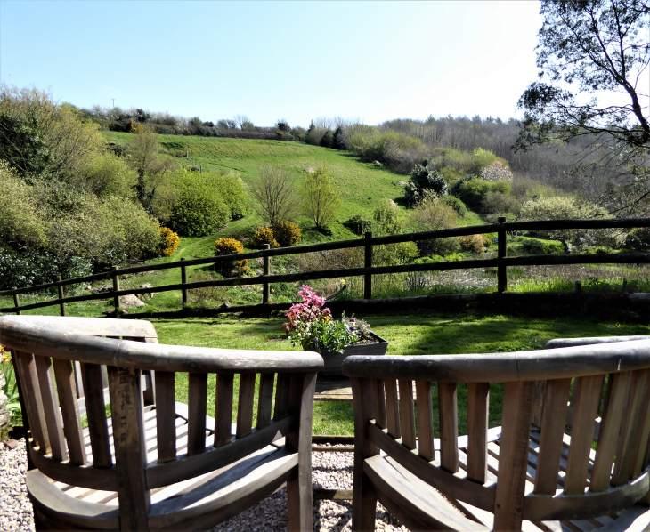 Valley view from Honeysuckle garden