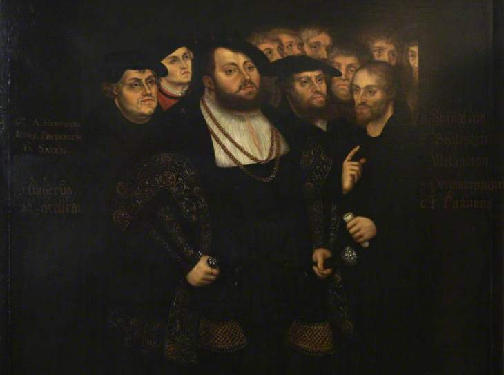 Painting by Lucas Cranach the Younger - Plymouth City Museum