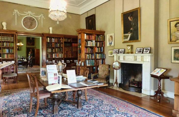 Killerton House - Library interior
