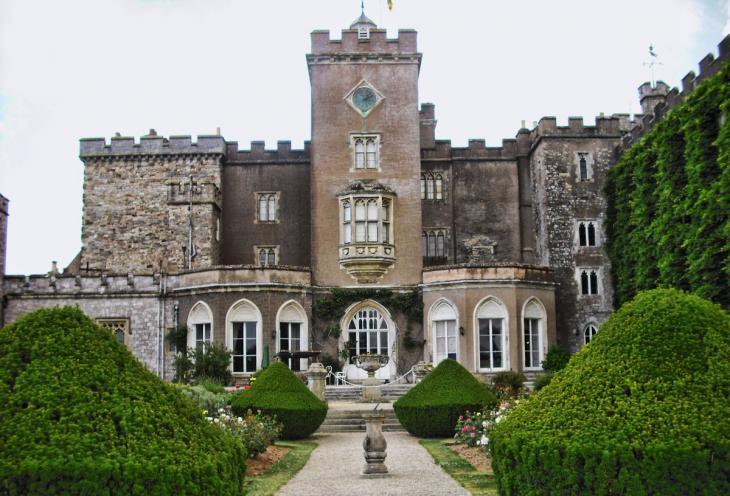 Powderham Castle from east garden