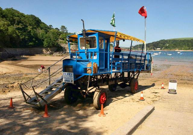 South Sands Salcombe sea tractor