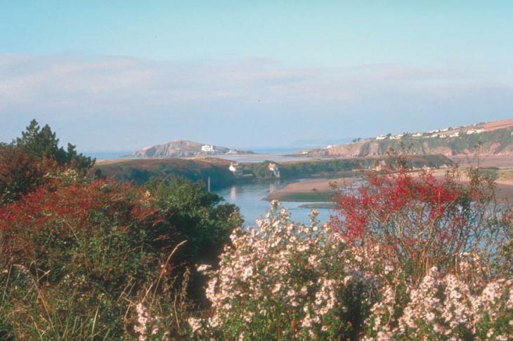 Burgh Island and the River Avon