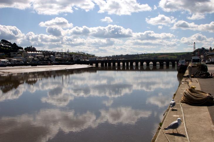 River Torridge and Long Bridge - Bideford