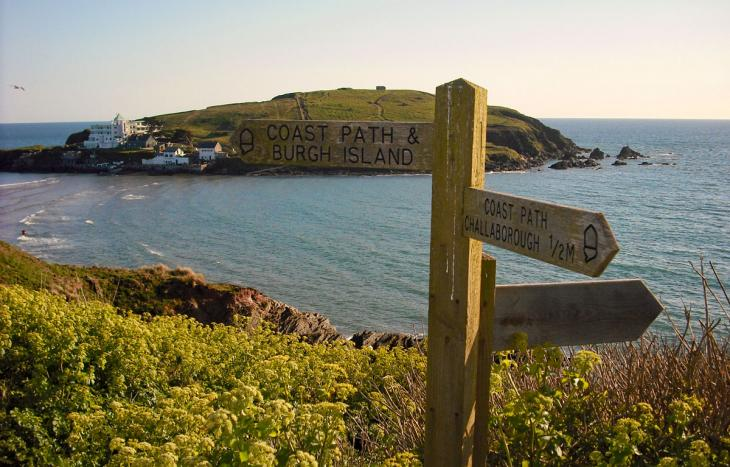 View to Burgh Island from South West Coast Path
