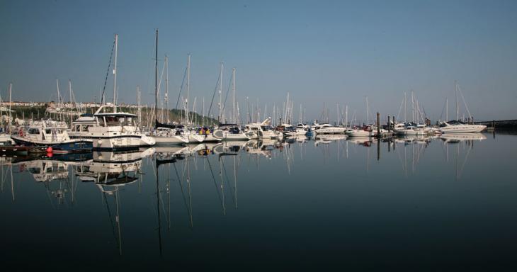 Yachts at Brixham Marina