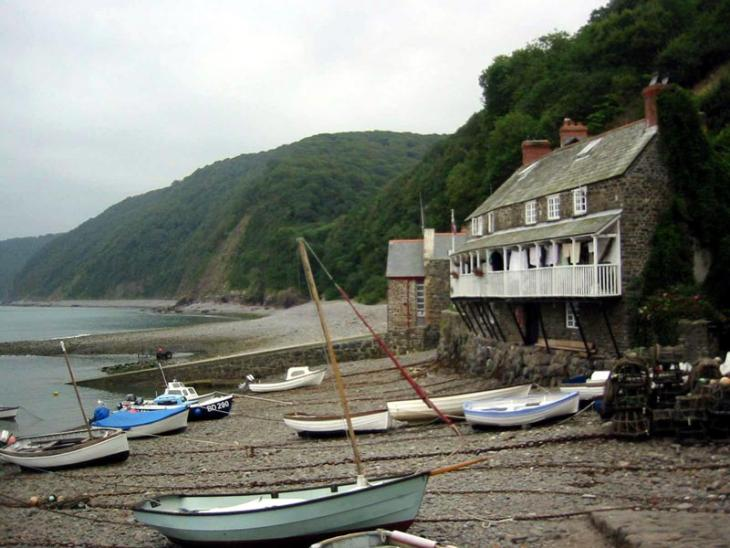 Clovelly fishing boats on beach