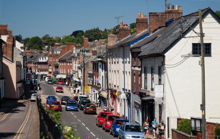 Crediton town centre