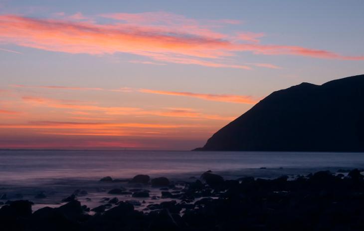Lynmouth beach sunrise