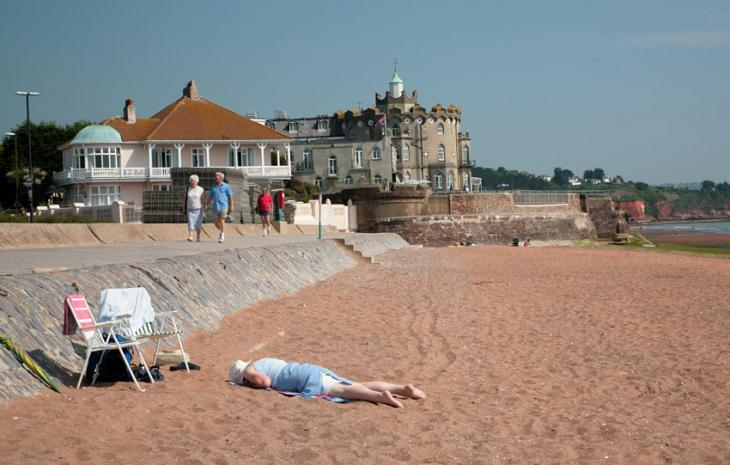 Sunbathing at Paignton