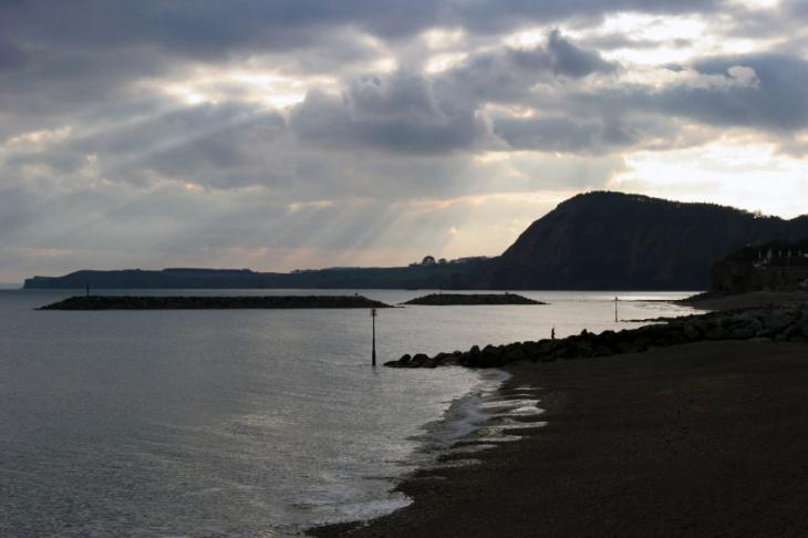 Sidmouth Beach - Evening View