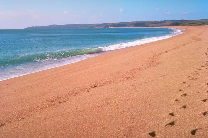 Footprints on Slapton Sands
