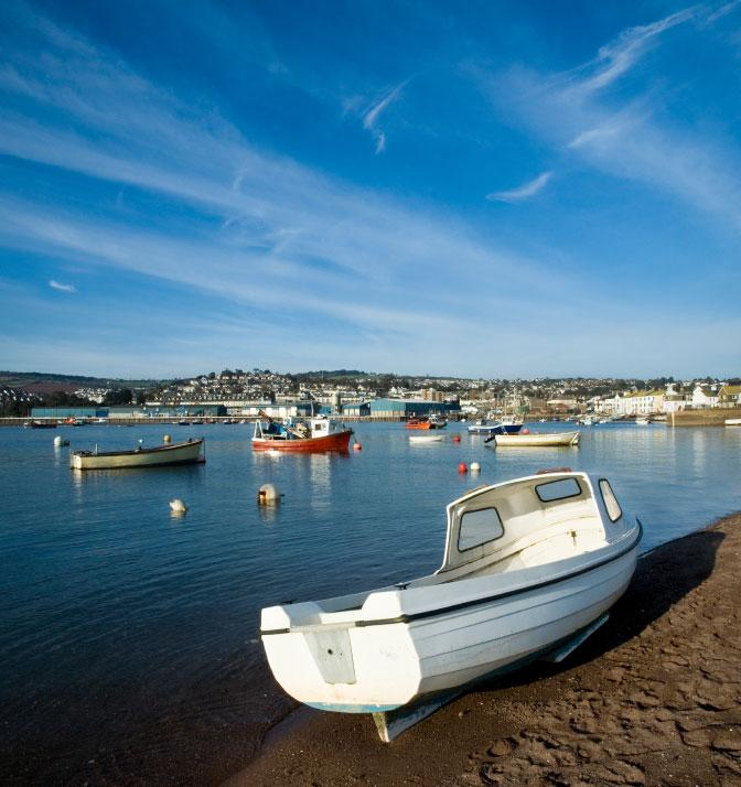 Teignmouth harbour beach
